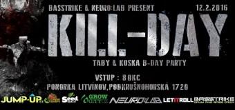 VIDEOPOZVÁNKA: KILL-DAY w/ COUNTERSTRIKE [JAR] – Taby & Koska B-Day party