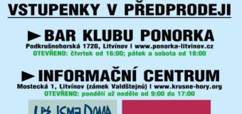 Předprodej vstupenek na koncerty Už jsme doma hrají FPB a ATMO Music v Ponorce