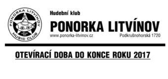 Otevírací doba v Ponorce do konce roku 2017